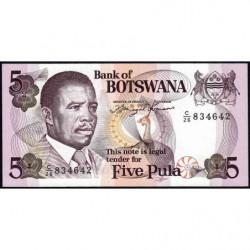 Botswana - Pick 11 - 5 pula - 1992 - Etat : NEUF