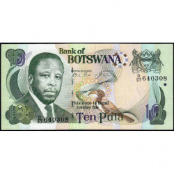 Botswana - Pick 24b - 10 pula - Série D/97 - 2007 - Etat : NEUF