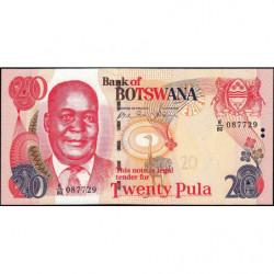 Botswana - Pick 27b - 20 pula - Série E/80 - 2006 - Etat : NEUF