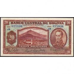 Bolivie - Pick 131_5 - 20 bolivianos - Loi 1928 (1945) - Série J3 - Etat : NEUF