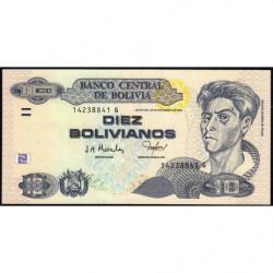 Bolivie - Pick 228 - 10 bolivianos - Loi 1986 (2005) - Série G - Etat : NEUF