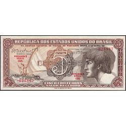 Brésil - Pick 166b - 5 cruzeiros - 1962 - Etat : NEUF