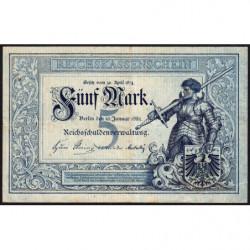 Allemagne - Pick 4 - 5 mark - 10/01/1882 - Série G - Etat : TTB+ à SUP
