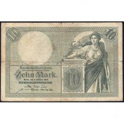 Allemagne - Pick 9b - 10 mark - 06/10/1906 - Série H - Etat : TB-