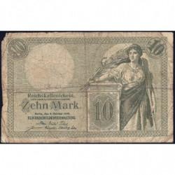 Allemagne - Pick 9b - 10 mark - 06/10/1906 - Série U - Etat : B
