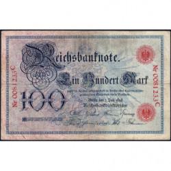 Allemagne - Pick 20a - 100 mark - 01/07/1898 - Lettre K - Série C - Etat : TB