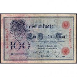 Allemagne - Pick 24b - 100 mark - 18/12/1905 - Lettre S - Série A - Etat : TB