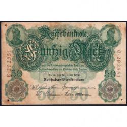 Allemagne - Pick 26a - 50 mark - 10/03/1906 - Lettre Y - Série C - Etat : TB-