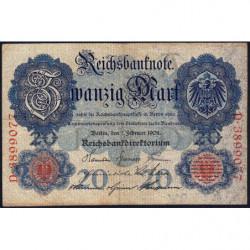 Allemagne - Pick 31 - 50 mark - 07/02/1908 - Lettre A - Série D - Etat : TB