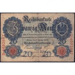Allemagne - Pick 31 - 50 mark - 07/02/1908 - Lettre D - Série D - Etat : TB-