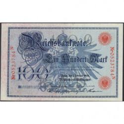 Allemagne - Pick 33a - 100 mark - 07/02/1908 - Lettre Q - Série N - Etat : NEUF