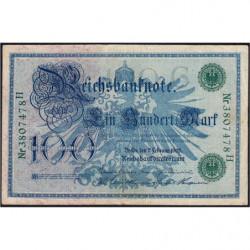 Allemagne - Pick 34 - 100 mark - 07/02/1908 - Lettre G - Série H - Etat : TTB