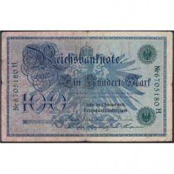 Allemagne - Pick 34 - 100 mark - 07/02/1908 - Lettre H - Série H - Etat : TB-