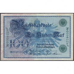 Allemagne - Pick 34 - 100 mark - 07/02/1908 - Lettre J - Série J - Etat : TTB+
