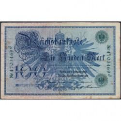Allemagne - Pick 34 - 100 mark - 07/02/1908 - Lettre K - Série J - Etat : TB