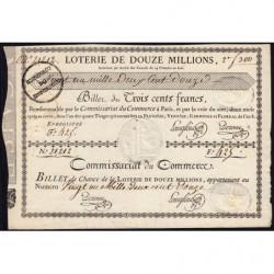 1799 - Paris - Billet de 300 francs - Etat : SUP