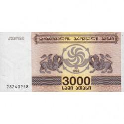 Géorgie - Pick 45 - 3'000 laris - 1993 - Etat : NEUF