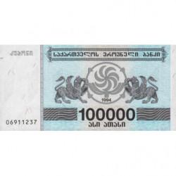 Géorgie - Pick 48Ab - 100'000 laris - 1994 - Etat : NEUF