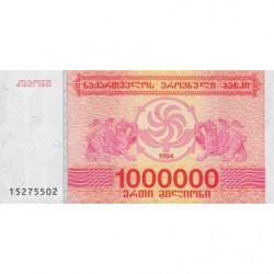 Géorgie - Pick 52 - 1'000'000 laris - 1994 - Etat : NEUF