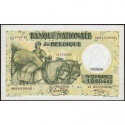 Belgique - Pick 106_4 - 50 francs ou 10 belgas - 17/01/1942 - Etat : SUP+