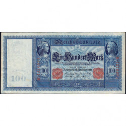 Allemagne - Pick 35 - 100 mark - 07/02/1908 - Série B - Etat : TB+