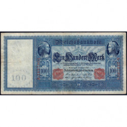 Allemagne - Pick 38 - 100 mark - 10/08/1909 - Série A - Etat : TB+