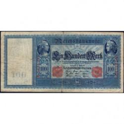 Allemagne - Pick 42 - 100 mark - 21/04/1910 - Série A - Etat : TB-