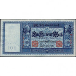 Allemagne - Pick 42 - 100 mark - 21/04/1910 - Série E - Etat : SUP