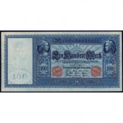 Allemagne - Pick 42 - 100 mark - 21/04/1910 - Série F - Etat : TTB