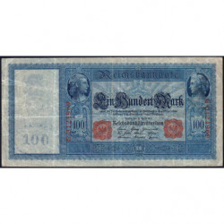 Allemagne - Pick 42 - 100 mark - 21/04/1910 - Série G - Etat : TB