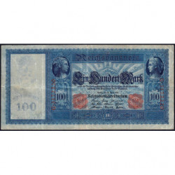 Allemagne - Pick 42 - 100 mark - 21/04/1910 - Série G - Etat : TB+