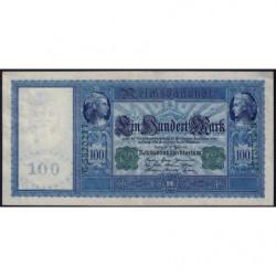 Allemagne - Pick 43 - 100 mark - 21/04/1910 (1918) - Série G - Etat : SUP