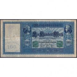 Allemagne - Pick 43 - 100 mark - 21/04/1910 (1918) - Série G - Etat : TB+