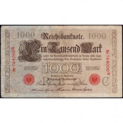 Allemagne - Pick 44a - 1'000 mark - 21/04/1910 - Lettre C - Série B - Etat : TTB-