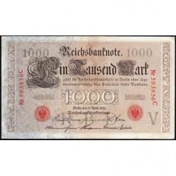 Allemagne - Pick 44a - 1'000 mark - 21/04/1910 - Lettre V - Série C - Etat : TTB