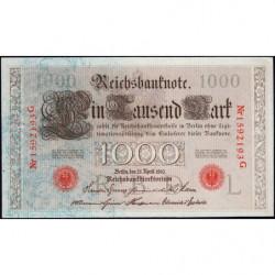 Allemagne - Pick 44b - 1'000 mark - 21/04/1910 - Lettre L - Série G - Etat : SPL