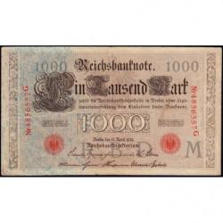 Allemagne - Pick 44b - 1'000 mark - 21/04/1910 - Lettre M - Série G - Etat : TB+
