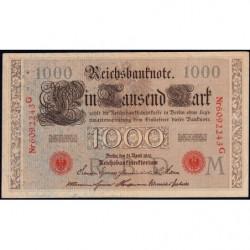 Allemagne - Pick 44b - 1'000 mark - 21/04/1910 - Lettre M - Série G - Etat : TTB