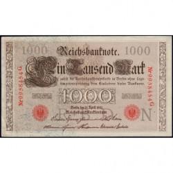 Allemagne - Pick 44b - 1'000 mark - 21/04/1910 - Lettre N - Série G - Etat : SUP