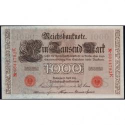 Allemagne - Pick 44b - 1'000 mark - 21/04/1910 - Lettre S - Série K - Etat : SUP