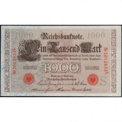 Allemagne - Pick 44b - 1'000 mark - 21/04/1910 - Lettre S - Série L - Etat : TTB+