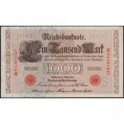 Allemagne - Pick 44b - 1'000 mark - 21/04/1910 - Lettre S - Série L - Etat : SUP