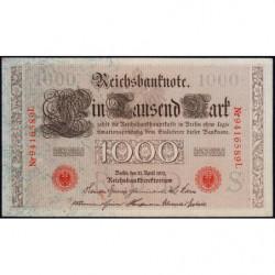 Allemagne - Pick 44b - 1'000 mark - 21/04/1910 - Lettre S - Série L - Etat : pr.NEUF