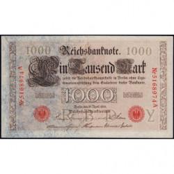 Allemagne - Pick 44b - 1'000 mark - 21/04/1910 - Lettre Y - Série A - Etat : SUP