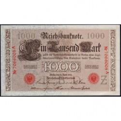Allemagne - Pick 44b - 1'000 mark - 21/04/1910 - Lettre Z - Série A - Etat : SPL