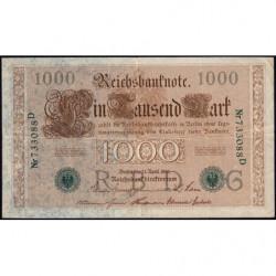 Allemagne - Pick 45a - 1'000 mark - 21/04/1910 (1921) - Lettre G - Série D - Etat : TTB