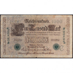 Allemagne - Pick 45b - 1'000 mark - 21/04/1910 (1919) - Lettre C - Série B - Etat : TB