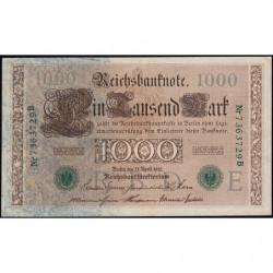 Allemagne - Pick 45b - 1'000 mark - 21/04/1910 (1920) - Lettre E - Série B - Etat : TTB+