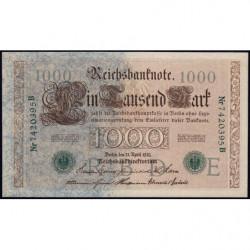 Allemagne - Pick 45b - 1'000 mark - 21/04/1910 (1920) - Lettre E - Série B - Etat : pr.NEUF