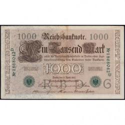 Allemagne - Pick 45b - 1'000 mark - 21/04/1910 (1921) - Lettre G - Série D - Etat : TTB